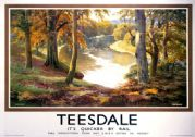 Teesdale, Durham. LNER Vintage Travel Poster by Ernest William Haslehust. c1930
